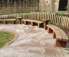 Woodscape: Sustainable furniture by Woodscape for Chinese Garden
