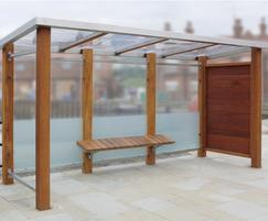 Bespoke harbourside seating and bus shelter, Scarboroug