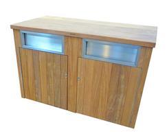 LBS 220 hardwood timber square litter bin