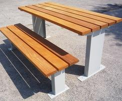 Burlington hardwood timber picnic table and bench set