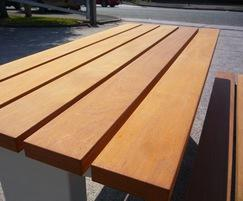 Burlington hardwood timber picnic table top