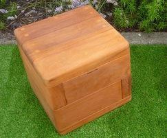 Box hardwood timber cube seats
