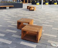 700(w) x 675(l) x 450mm (h) modular timber seating