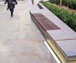 Bespoke seating for public realm ddevelopment