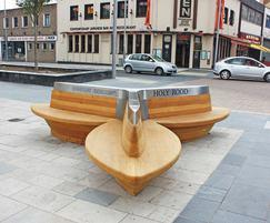 Seating made bespoke for Southampton public area
