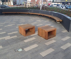 Type 4 wall seat and Box seats for shopping park