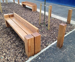 Type 5 seat and hardwood bollards