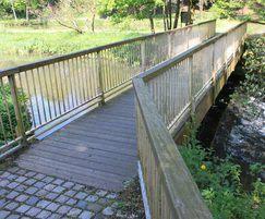 Restored footbridge over the river Croal