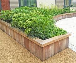 Hardwood Timber Retaining Wall System