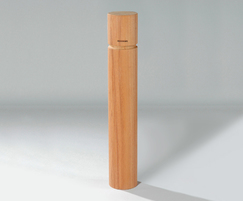 Round bollard flat profile grooved