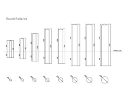 Round bollards specifications