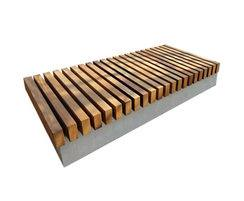 Bench with Naturally Very Durable Hardwood slats