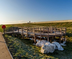 Walkway and viewing platform - Rossall Sea Defences