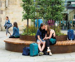 Movable circular tree seats for heritage public realm