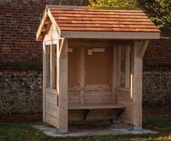 Bespoke timber bus shelter at Walberton