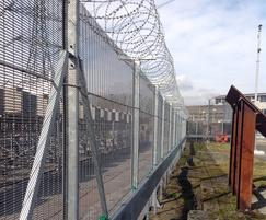 Secure perimeter fencing at sewage treatment works