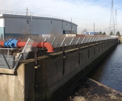 Fencing at Beckton Sewage Treatment Works