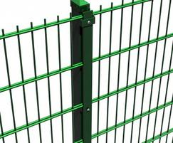 Double wire perimeter fence with anti-tamper clamp bar