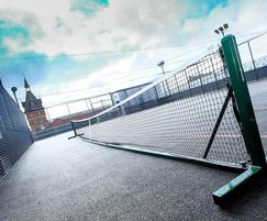 Tennis court on rooftop MUGA