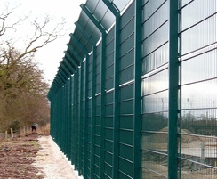 Zaun supplied more than 500m of 2.4m high Duo8 fencing