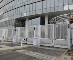 Zaun: Zaun steel mesh for gates at Nigerian landmark tower