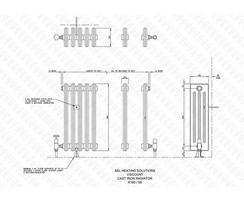 Viscount 4-column cast iron radiator illustration