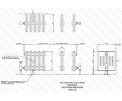 Viscount 5-column cast iron radiator illustration