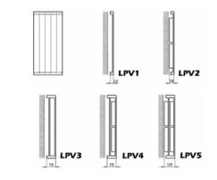 PlanRad vertical convectors available in various models