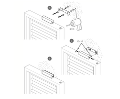 Warmrack Hudson heated towel rail - wall fixing guide