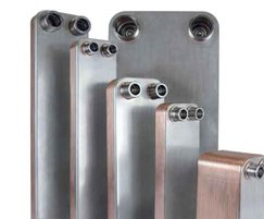 Brazed plates for heat exchangers