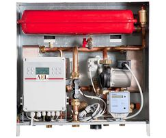 Wall-mounted substation for central heating only