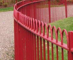 Interlaced bow top railings, Battersea Park