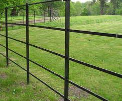Metal estate rail fencing - Lilyhill Park, Bracknell