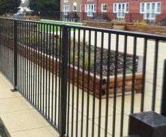 Flat Top Railings to Roof Gardens, Crawley