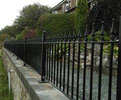 Alpha Rail: Victorian  frontage restored using metal railings