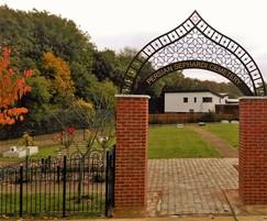 Alpha Rail: Decorative Archway for private cemetery