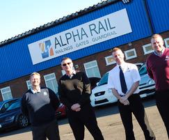 Alpha Rail: £800k  improves service of railings manufacturer