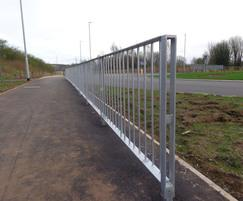 Galvanized optirail pedestrian guardrail
