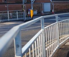 galvanized pedestrian guardrail