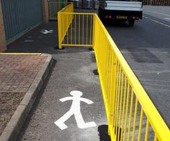 Walkway barrier railings for Sangenic International