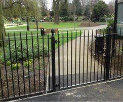 Steel pedestrian gate for park