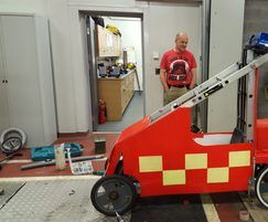 Alpha Rail: Charity race chariot supplied with bespoke metalwork