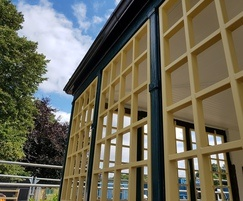 Trellis style railing panels