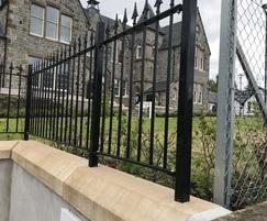 Decorative vertical bar railings, Fort William
