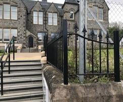 Decorative railings and freestanding handrail