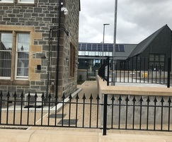 Decorative and flat top railings, Fort William