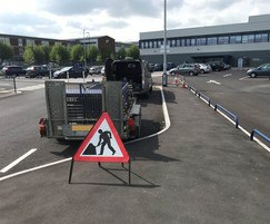 Small hoop barriers replaced at Aerospace Broughton