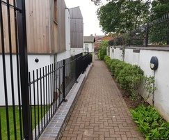 Vertical bar railings for housing development