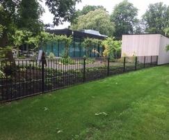 Bespoke flat top railings, Royal Botanical Gardens, Kew