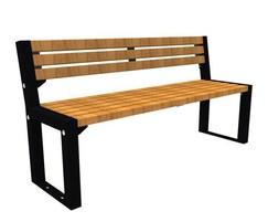 FalcoAcero hardwood and metal external seat